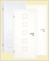 Weisse Eingangstüren